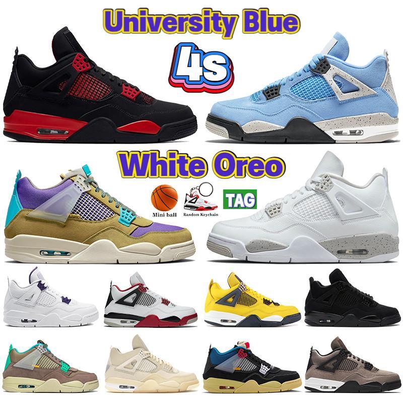 Top New 4 white x sail 4s Jumpman zapatillas de baloncesto para hombre juego de mezclilla royal black white SE Neon rasta zapatillas de deporte para hombre