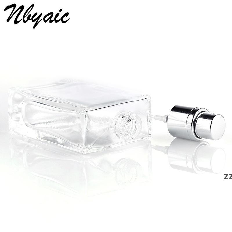 30 ml de perfume de cristal botellas de spray atomizador portátil vacío reclinable claro negro viaje cosmético contenedor parfum vacío botellas HWD7232