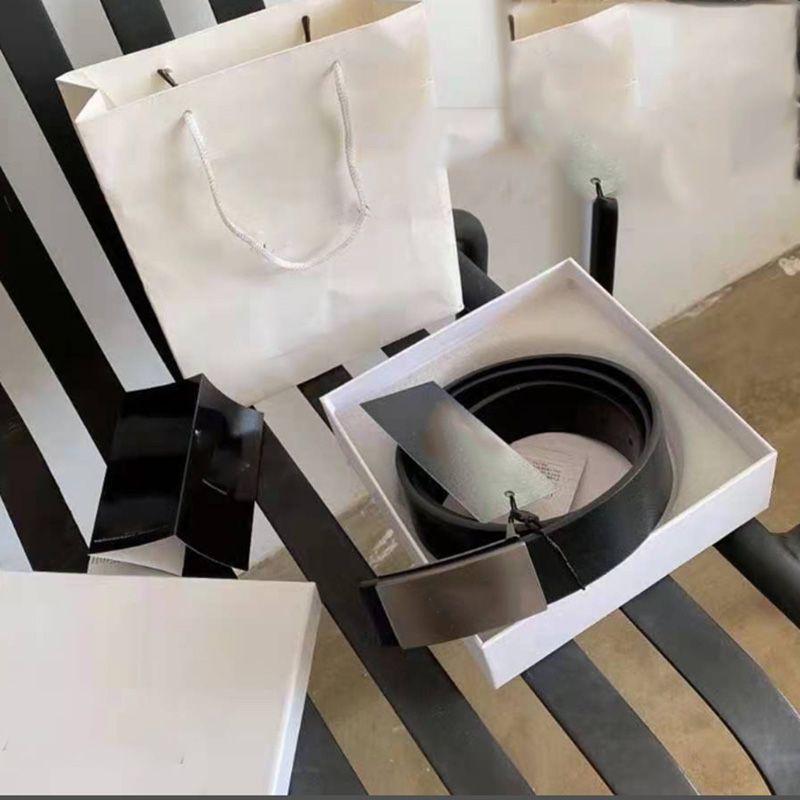 2021 Mode Hommes de luxe Designers Courroies Big Gold Boucle Véritable Ceinture en cuir Véritable Accessoires classiques CEINTURE 3.5CM largeur avec boîte