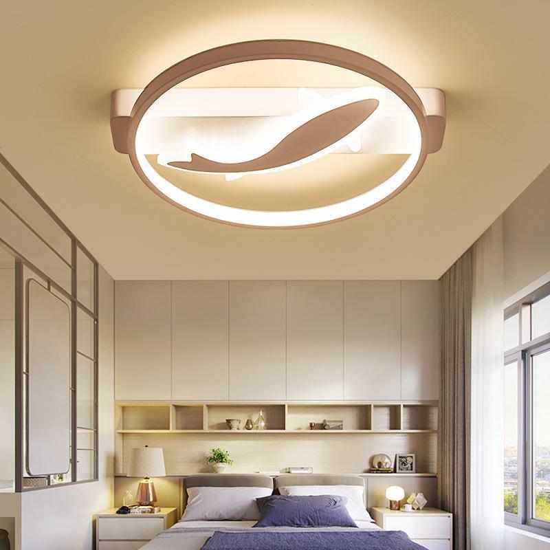 북유럽 LED 현대적인 등기구 천장 조명 라이트 플레 폰 침실 식당 생활