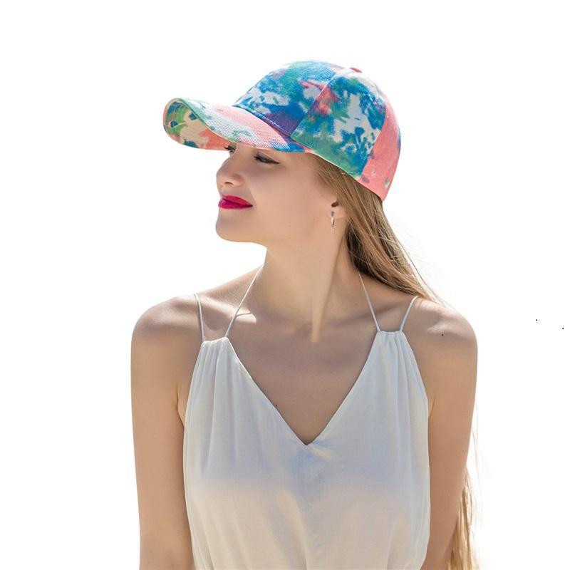 Chapeau de fête Cravate Teinture Chapeaux Voyage extérieur Voyage Pony Casquettes Casquette de baseball féminin à la mode 4 Style T500817