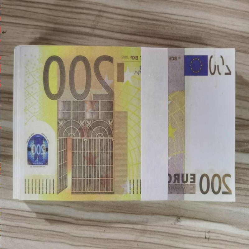 Prop Most Note Realistic Business Money Nightclub Movie Copy Bank 200Euros Paper Fake Play For Collection 22 Knbuo