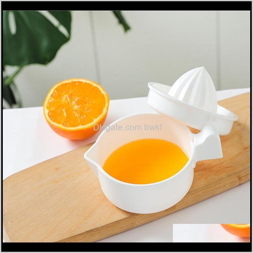 Juicers Food Processors Küche, Essbar Home Garten Drop Lieferung 2021 1 stücke Küchen Asories Manuelle Kunststoff Fruchtwerkzeug Orange Zitrone SQ