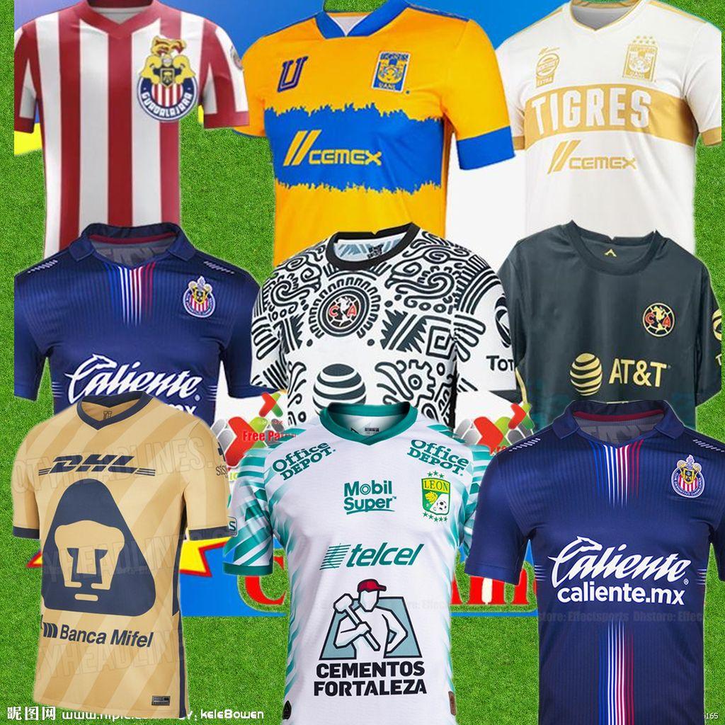 2021 22 Club America Away Soccer Jerseys 2021 2122 الصفحة الرئيسية UNAM الثالثة Leon Uanl Tigres Chivas Guadalajara 115 سنة كيت كاميساس دي فيوتول لكرة القدم قمصان