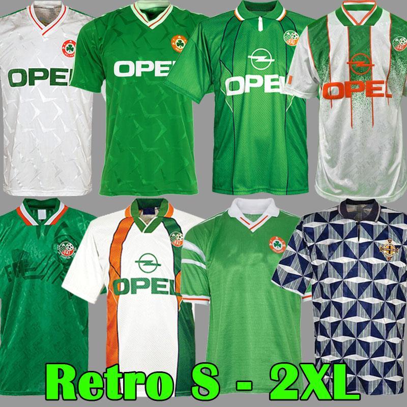 Ретро Vintage 1988 1990 1992 1994 1995 1996 Ирландия Футбол Джерси Республика Ирландия Футбольная футболка Национальный 90 Кубок мира Северная Ирландия 1993 Комплекты