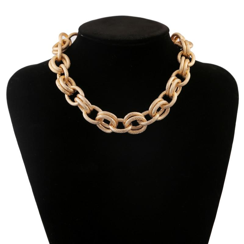 Statement necklace exaggerated cuban thick chain choker necklaces for powerful big women lady fashion vintage fewelry collier female costume accessories