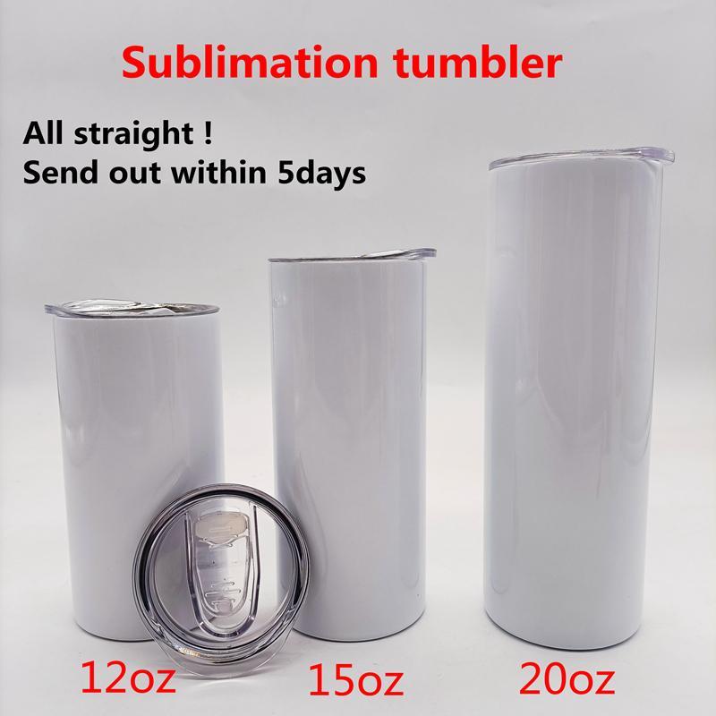 Süblimasyon düz fincan bardak boş 20 oz paslanmaz çelik sıska yalıtımlı bardak DIY düz bardak bira kahve kupalar stokta yfab2301