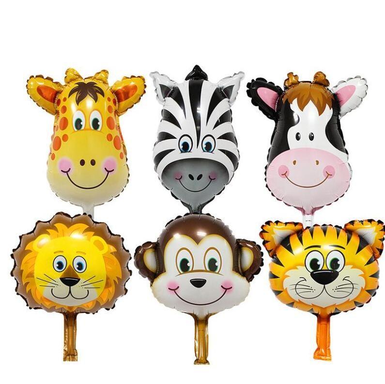 Cartoni animati animale palloncini palloncini palloncini Air Helium Balon Belon Birthday Party Decoration Bambini Baby Shower Zoo Tema Forniture