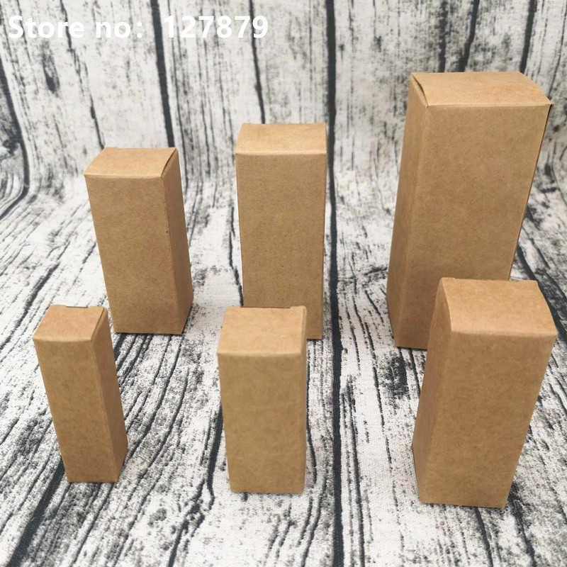 5/10 adet Kraft Kağıt Karton Kutu Ruj Kozmetik Uçucu Yağ Paketi Kutusu Dikdörtgen Parfüm Şişesi Ambalaj Kutuları Y0712