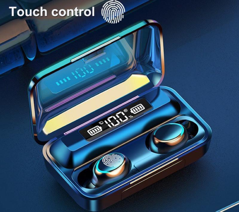 F9-5C TWS Wireless Bluetooth-Kopfhörer Kopfhörer 2200mAh-Ladebox mit Mikrofon Sport Wasserdichte Headsets Ohrhörer