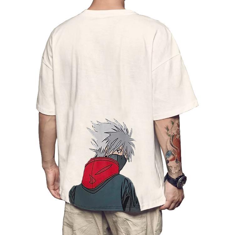 T-shirts En gros Hip Hop Anime Naruto Numérique Impression 3D personnalisée Homme Chemise
