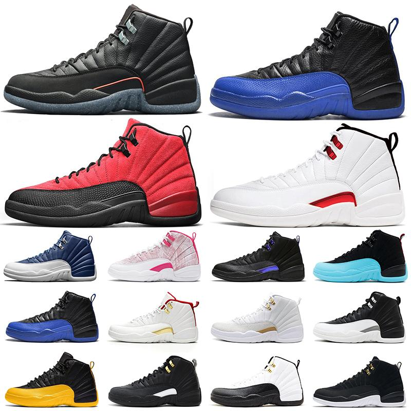 Retro Air Jordan 12 Zapatillas de baloncesto 12s Utility Dark Concord Indigo Game Royal Taxi Mujeres para hombre zapatillas deportivas