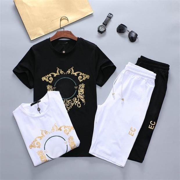 2021 designer tide men's suit summer cotton sportswear fabric comfortable and fashionable 2213w