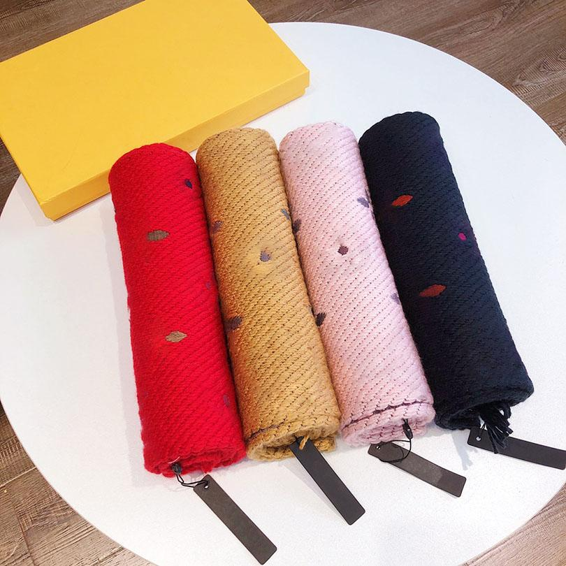 Top Luxury Scarf Cashmere and Silk Blending Fashion Colors Pashmina Winter Warm Brand Designer Letter Shawl Classic Pattern Long 180cm With Original Box Set