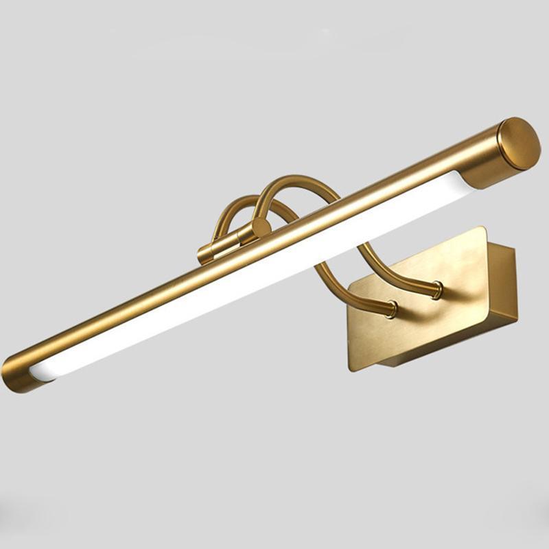 الجدار مصباح الرجعية الروتاري مرآة الجبهة ضوء الحمام الذهب معدن البراز ماكياج dressdecor المنزل الإضاءة الشمعدان الإنارة G892