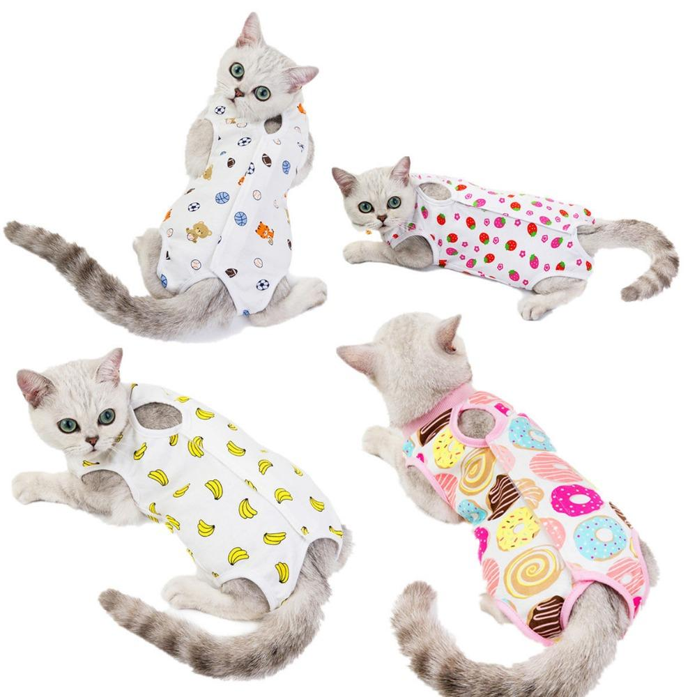 12 stks / partij vrouwelijke kat hond chirurgie pak sterilisatie kleding postoperatief vest anti-off anti-bit huisdier kleding levert YC09