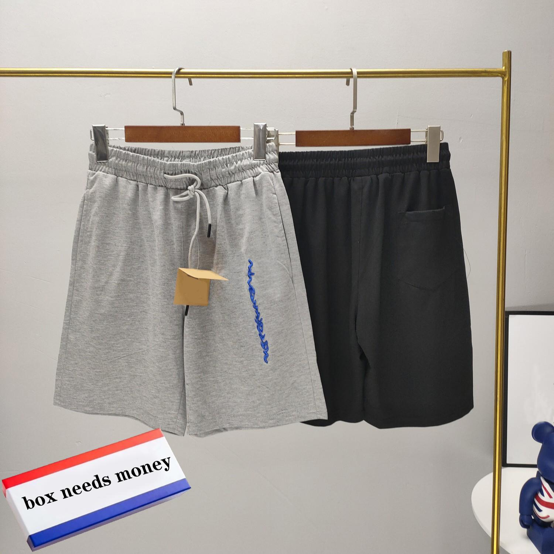 21SS Uomo pantaloncini Lettera Ricamo Estate Estate traspirante Breve moda Casual Pantaloni Casual di buona qualità Abbigliamento da uomo High Street Style Pantaloni cortometi