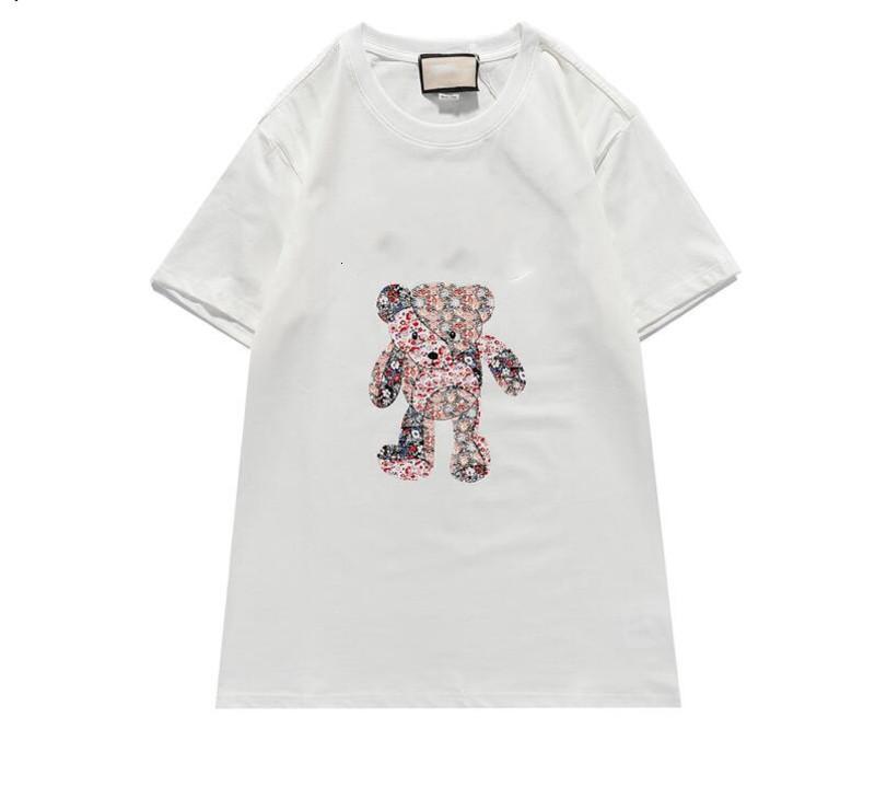 Design de mulher de verão 2021 Camisetas Preto Branco Vermelho Mens moda cartas tops homens e mulheres camisa casual s-xxl