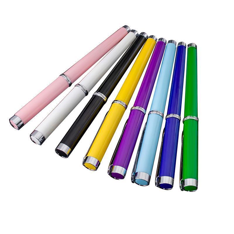 Penas de Fonte 12pcs Mista Cor Oaso Pen 0.5mm Fine Nib Escola de Escola Suprimentos Artigos de papelaria Estudante Prática Tinta de caligrafia