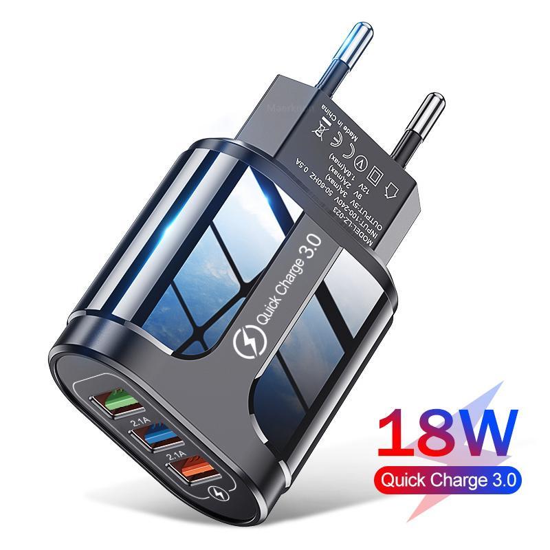 USB 빠른 충전기 빠른 충전 3.0 4.0 유니버설 벽 휴대 전화 태블릿 충전기 전화