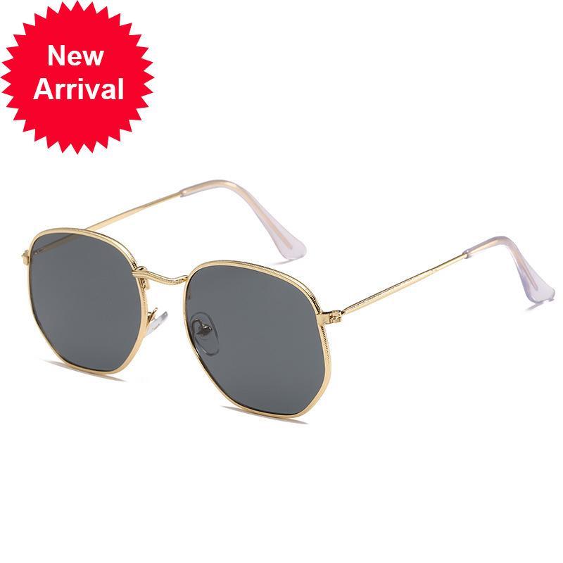Металлические рамки многоугольники женские солнцезащитные очки Trend Mell Box красочные ртути океан пленка солнцезащитные очки женские бренд дизайнер {Catework} z0p8
