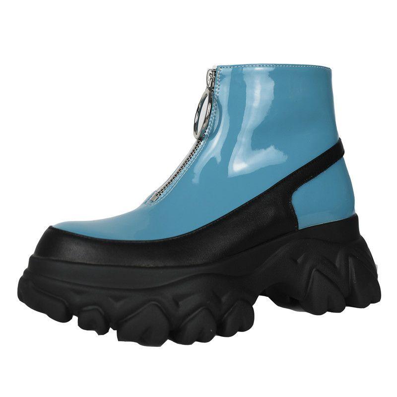 Asumer Moda Yüksek Kaliteli Deri Renkleri Karışık Sonbahar Kış Bayan Ayakkabı Çizme