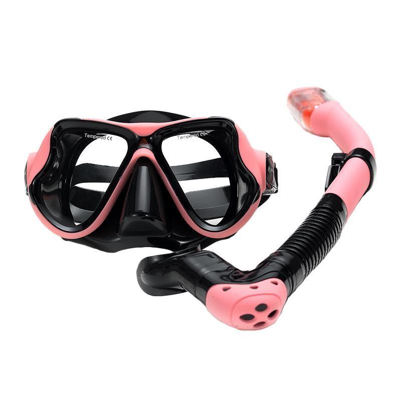 Diving Masks Outdoor Sports Adventure Snorkeling Mask Snorkel Set Anti-Fog Swimming Goggles Tube