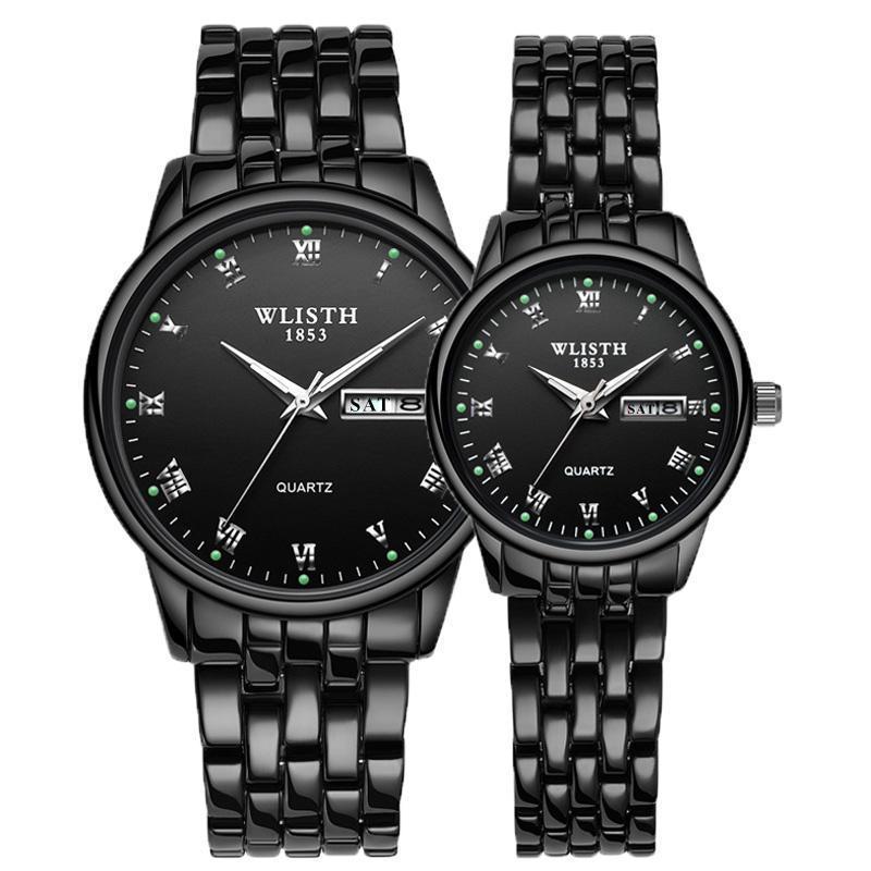 Armbanduhren WLISTH 2021 Liebhaberuhr Frauen Wasserdichte Paare Uhren Weibliche Quarz Männer Edelstahl 1Pair