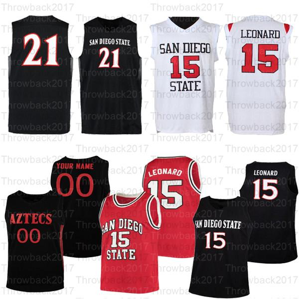 Benutzerdefinierte San Diego State College Basketball-Trikots 15 Leonard 12 Che Evans 5 Lamont Butler 10 Keith Dinwiddie Jr. 0 Keshad Johnson
