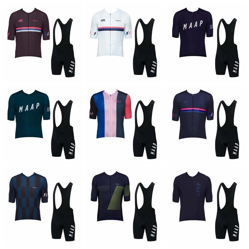Maap Takım Bisiklet Jersey 2019 Yeni Kısa Kollu Önlük Şort Setleri Yarış Bisiklet MTB Döngüsü Giyim Giymek Ropa Ciclismo Spor K073104