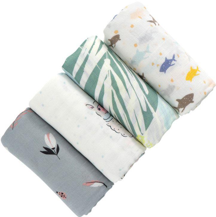 أحدث 120x120cm حجم بطانية، غلاف الطفل الشاش، ألياف الخيزران المطبوعة النشطة، Swaddling، العديد من الأساليب للاختيار من بينها، دعم التخصيص