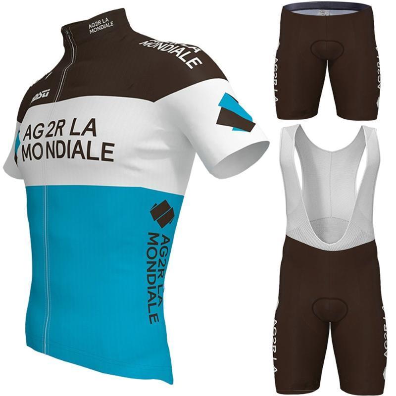 مجموعات سباق مجموعة AG2R ركوب الدراجات جيرسي 2021 دراجة ملابس رياضية ارتداء قصيرة الأكمام mtb دراجة الطريق مايلوت كولوت