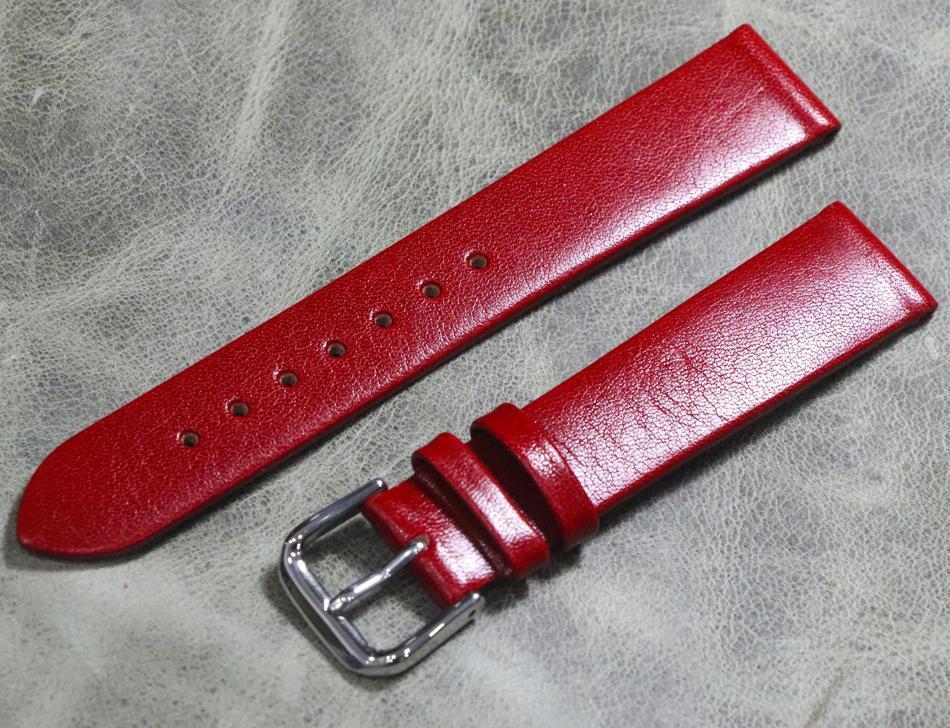Para senhoras Moda Red Watchbands ultra-fino 12 14 16 18mm de couro genuíno assistir acessórios cinta macia mulher aconchegante faixas de cinto de vaca