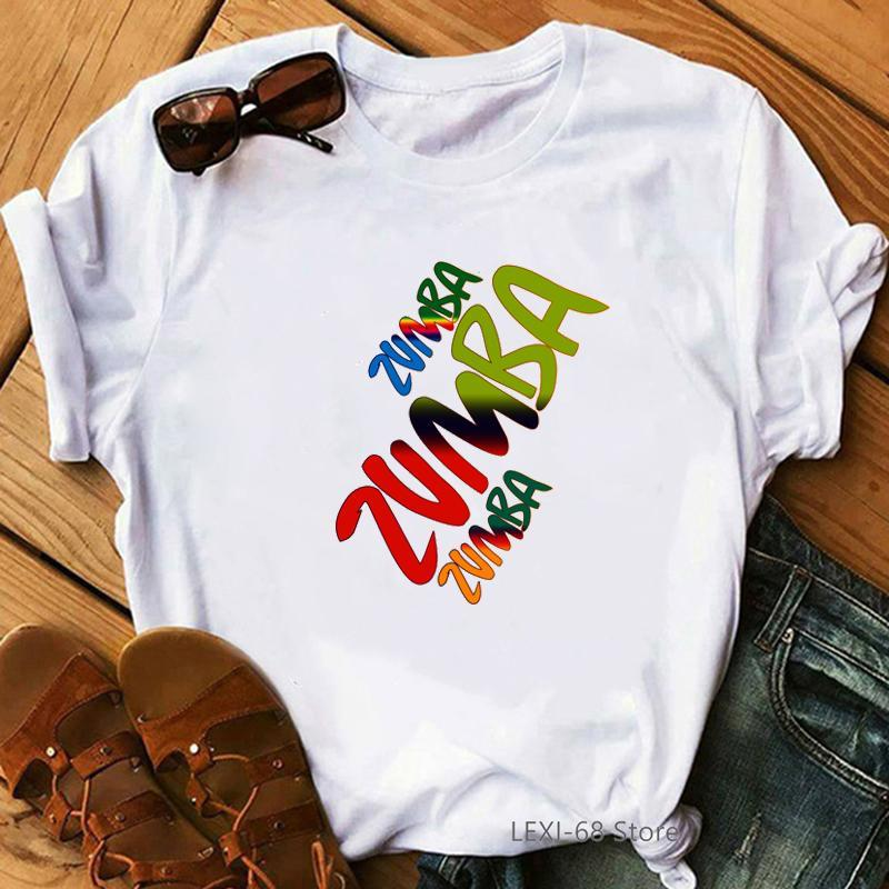 Fitness T Shirt Women Dance Lover Sport Gymnastics Femme Hip Hop Tshirt Summer Tops Graphic Tees Women's T-Shirt