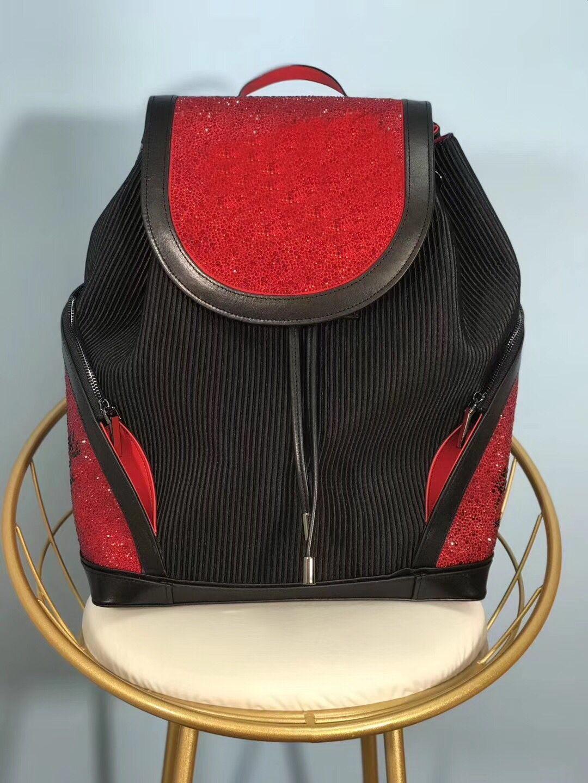 Настоящие кожаные сумки высокого качества мужчины женские школьные сумки известные заклепки Redbottom рюкзак дизайнер леди сумки мальчик девушка задний пакет