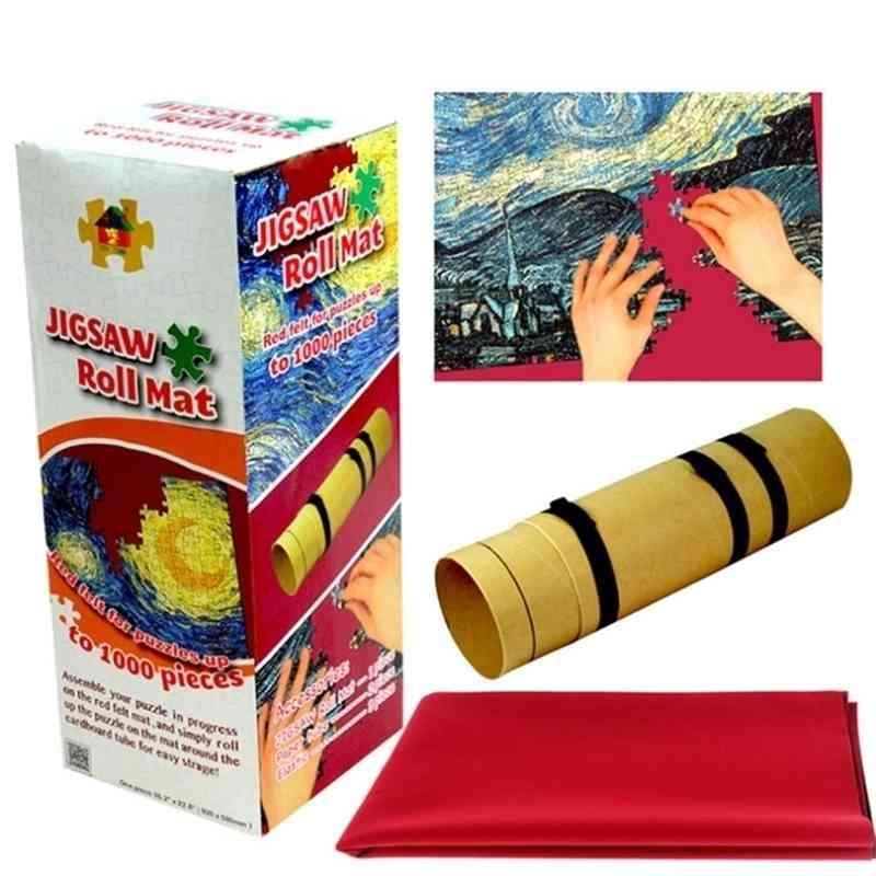 Adult jigsaw puzzle roll mat, 500 piece, 1000 piece puzzle, portable accessories 60cm*90cm 201218