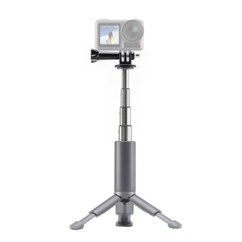 Titulares de montagem do telefone celular portátil camera dobrável tripé suporte suporte de selfie para a ação DJI OSMO