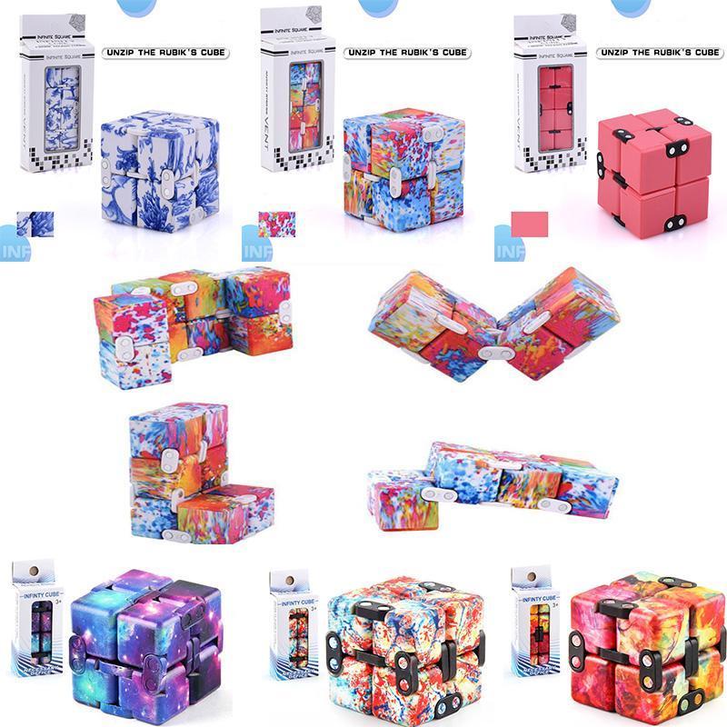 Camo oändlighet mini leksaker barn magiska block vuxna ångest stress relief dekompression antistress kontor flip
