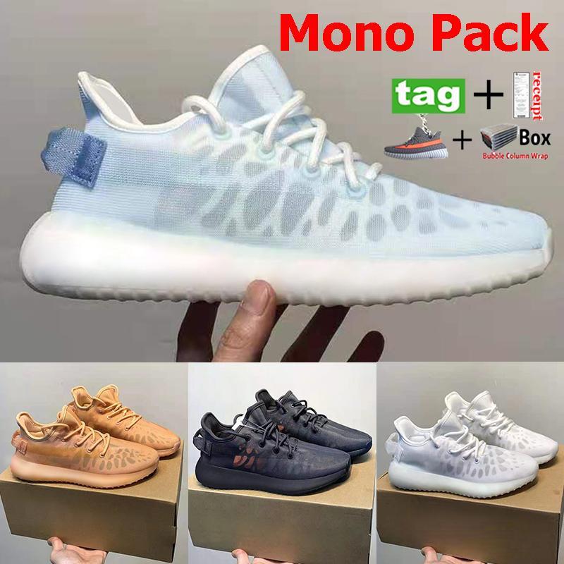 Yeni Mono Paketi V2 Koşu Ayakkabıları Buz Mist Kil Kilitli Beyaz Erkek Kadın Yaz Sneakers Moda Parti Alışveriş Eğitmenler ABD 5-12.5