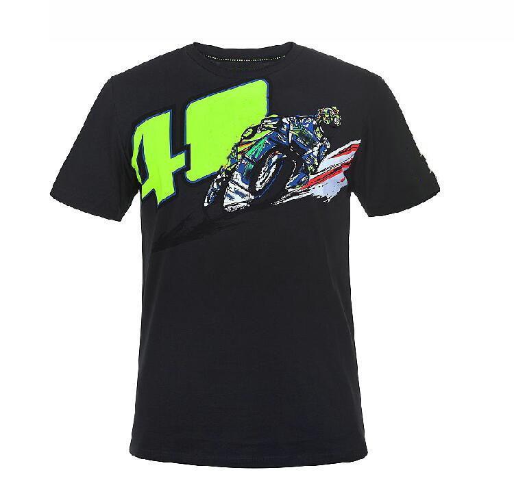 Moto Competición Motocicleta Racing Traje Racing Camiseta Verano Camiseta Locomotora Equipo Fans Casual Secado rápido Deportes Mangas cortas