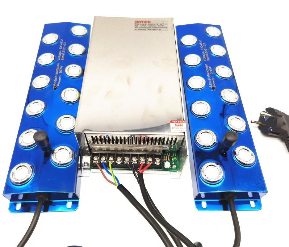 18000ml / h Ultrasonik Atomizer Endüstriyel DC48V 12 Kafa Nemlendirici Mist Maker 100-240 V 800 W Güç Kaynağı 2 adet Sisleyici Nemlendiriciler ile Bağlan