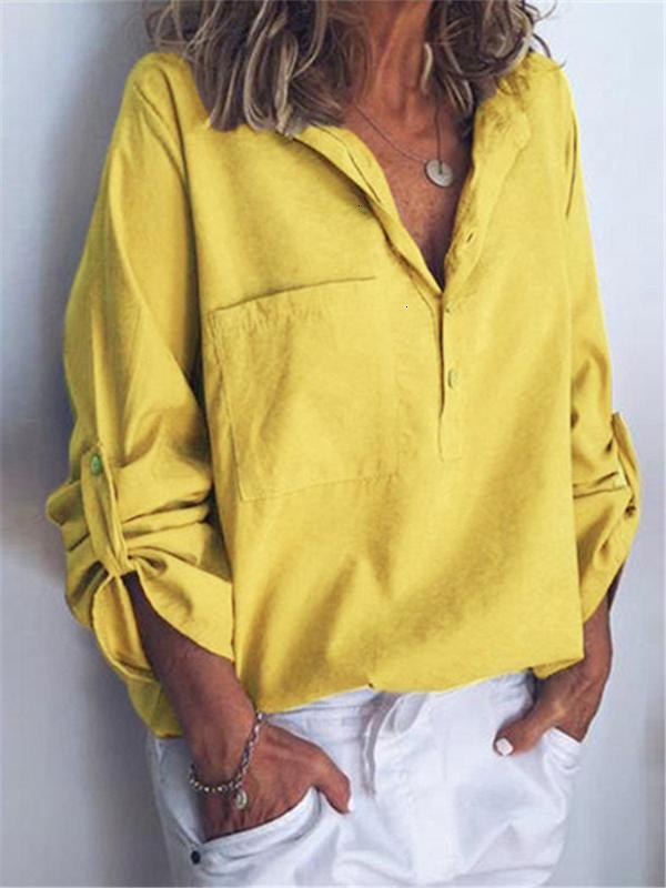 Camicie da donna Camicette Abbigliamento moda 2020 BOHO SHIAGES SHIRTS Womens Top e Bluses Streetwear Tasche Gothic