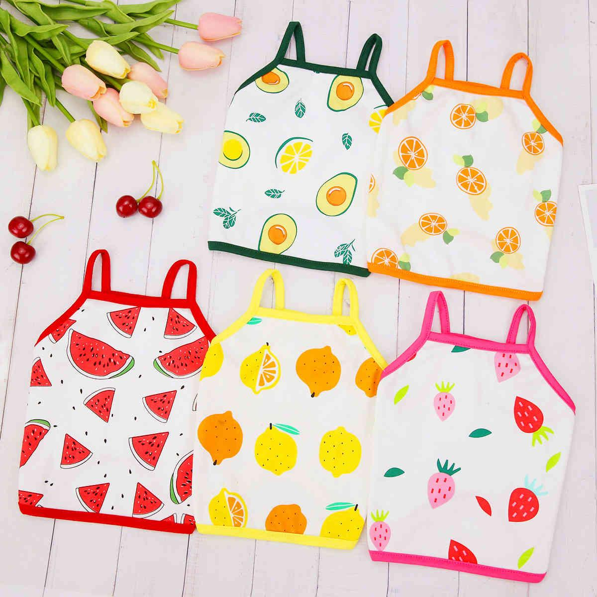 Sublimation Blanks Dogs Clothes Dog Apparel Pet Thin Vest Spring Summer Clothing Fruit Sling Cute Dogg Clothe Girl Hawaii Vacation Seaside Beach