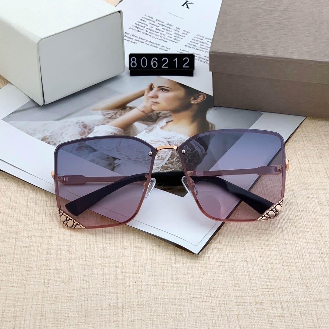 6212 جودة عالية مصمم أزياء ماركة نظارات شمسية للرجال والنساء السفر التسوق UV400 حماية الرجعية ظلال الطيار