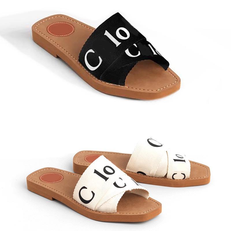 Kadın Sandalet Odunsu Katır Marka Terlik Slayt Sandal Fahsion Deisgner Lady Yazı Kumaş Açık Deri Sol Slaytlar KUTUSU NO290 ile Flip Flop