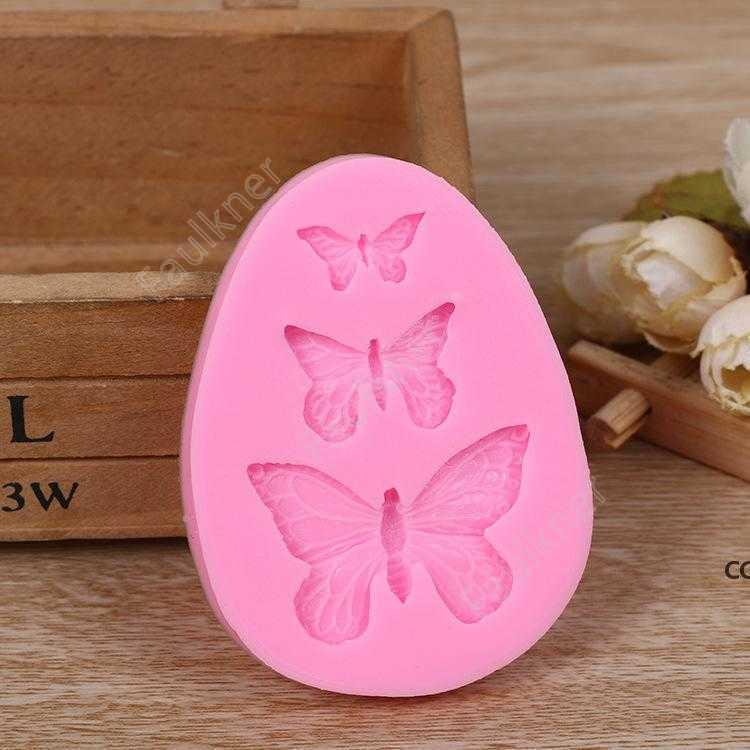 Candy muffa slipfly farfalla fondente stampo al cioccolato sapone rendendo strumento decorazione torta mousse cottura DHF03