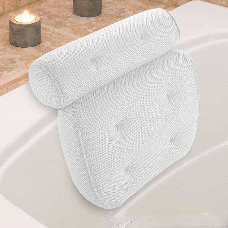 Pillow Spa Bathtub With Suction Cup Neck And Back Support Headrest Thickened Home Tub Bathroom Cushion Accessories