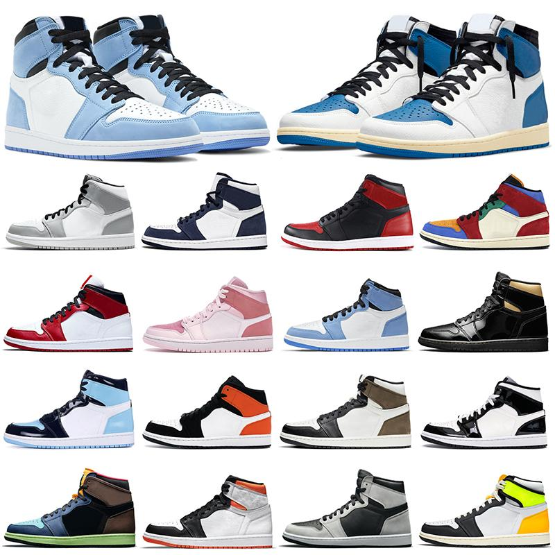 nike air jordan retro 1 1s أزياء الخصم الرجعية الهواء الأردن 1 ثانية الرجال أحذية كرة الس aj1 jumpman 1 bed تو شيكاغو المحظورة الظل النساء الرجال المدربين الرياضة رياضة المشي الركض