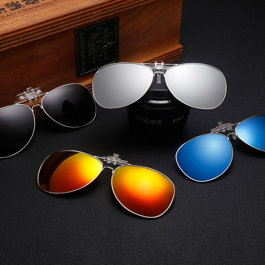 Gafas de sol Clip Menidad y mujer Myopia Tendencia Personalidad Conducción Ejed Toad Gafas Redonda Faro anti ultravioleta JVT7