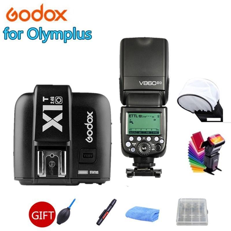 Godox V860iio V860ii-O Caméra Flash Speedlite 2.4G Sans fil X SystemL HSS LI-ON Batterie + X1T-O déclencheur pour caméras clignote
